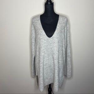 Point Sur Gray V-neck Oversized Sweater Size XXL